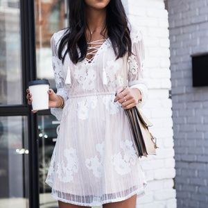 Lovers + Friends NWT Haiden Dress in Ivory